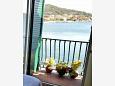 balkón 2 m2, výhled na moře