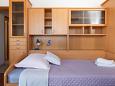 ložnice 8 m2, počet lůžek 2 (jednolůžko, jednolůžko)