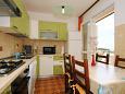 kuchyně 10 m2, vybavení: lednička, sporák, trouba, mrazák, myčka