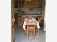 kuchyně 5 m2, vybavení: lednička, sporák, trouba, mrazák, myčka