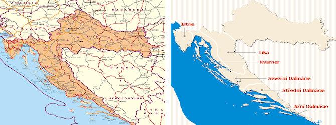 Oblasti V Chorvatsku Interaktivni Mapy