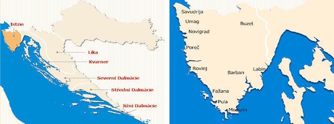 Istrie mapa