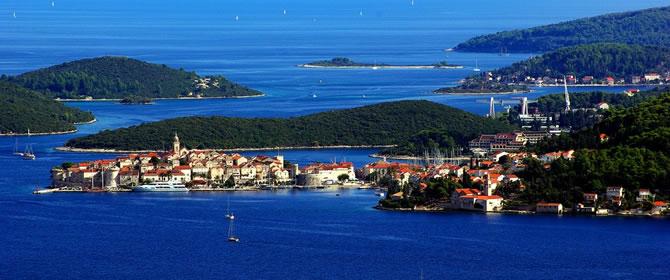 Ostrov Korčula - počasí
