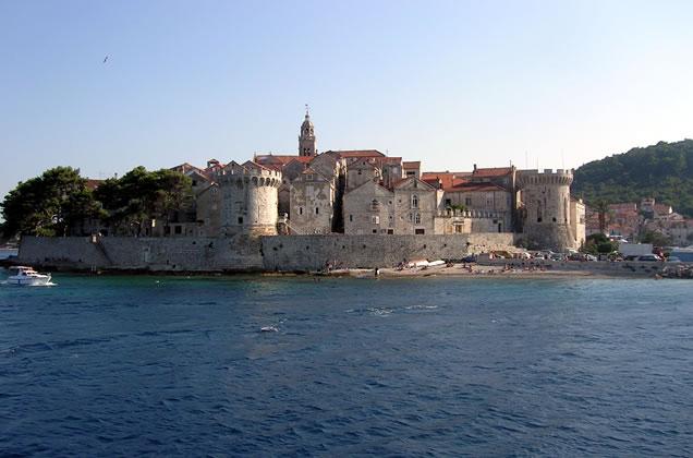 Opevnění - ostrov Korčula