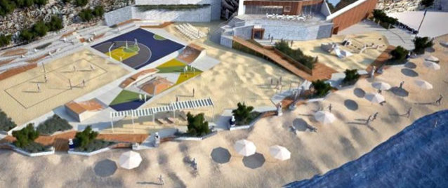 Nová pláž v Šibeniku (od roku 2012)
