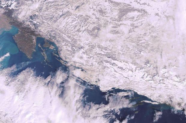 Chorvatsko počasí v zimě 2012