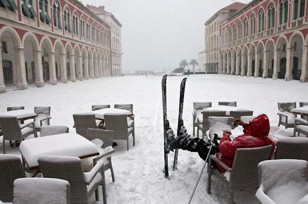 Sníh ve Splitu (Chorvatsko 2012)