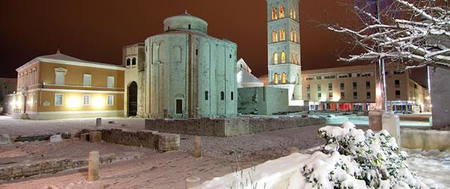 Chorvatsko 2012 pod sněhem (Zadar)