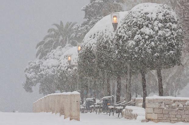 Sníh v Chorvatsku 2012