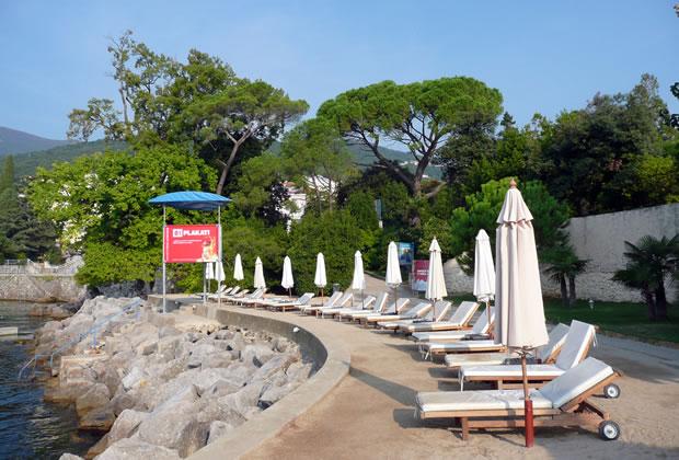 Aktuální vzhled pláže Lido - Opatija Chorvatsko