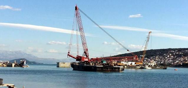 Stavba nového mostu z Trogiru