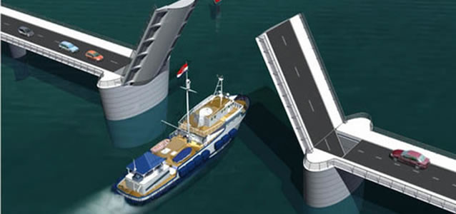 Vizualizace nového mostu na ostrov Čiovo