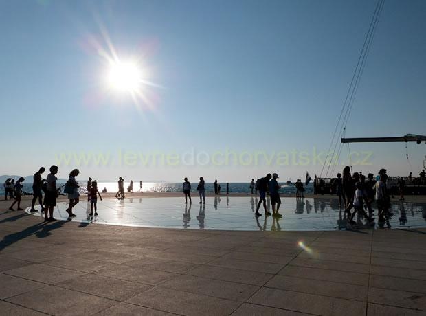 Chorvatský Zadar - mořské varhany