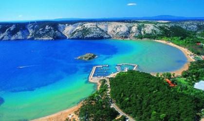 Rajská pláž - ostrov Rab (Chorvatsko)