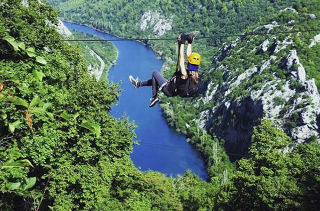 Lanová dráha nad Omišem (Cetina)